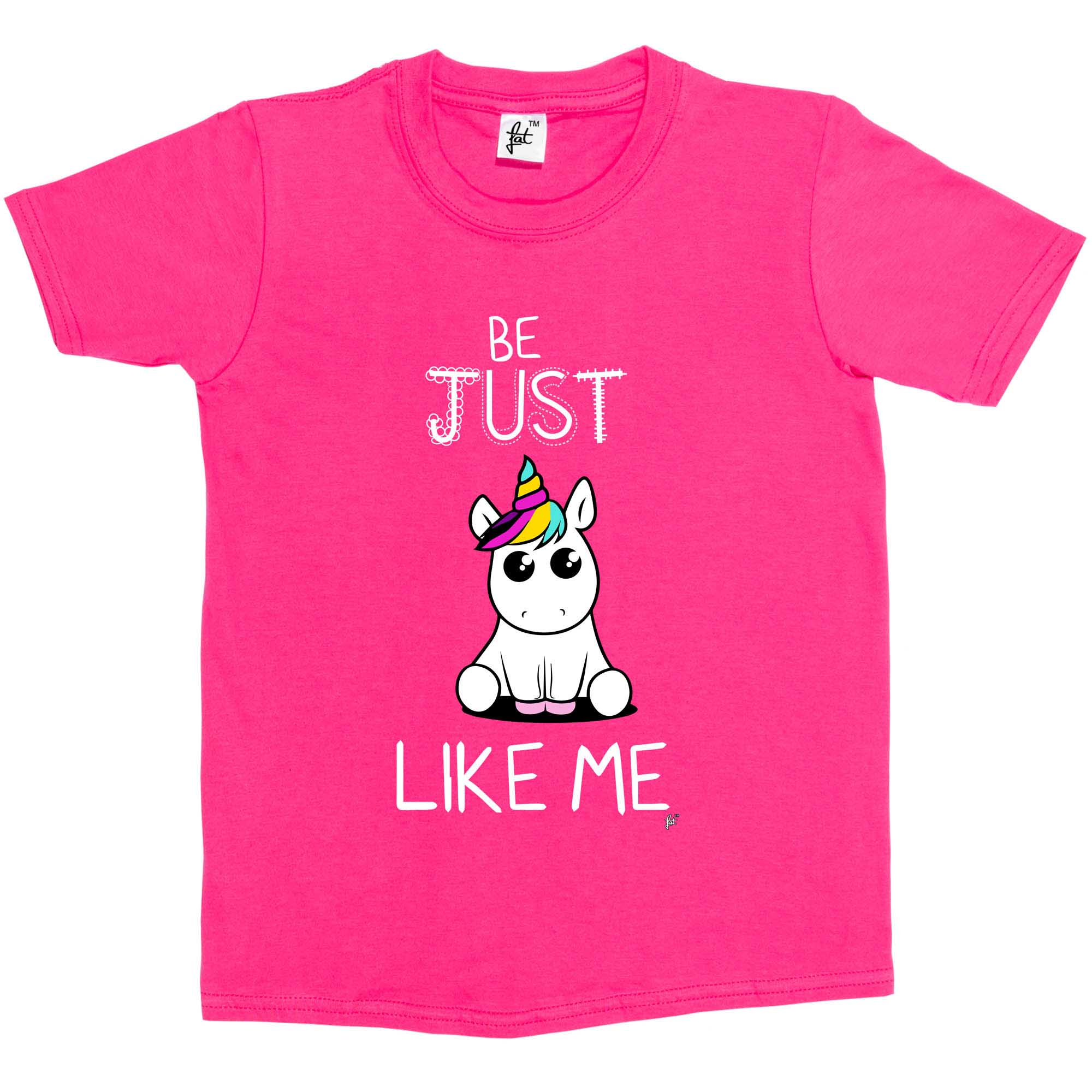 Be Just Like Me Cute Big Eye Unicorn Kids Girls T-Shirt | eBay